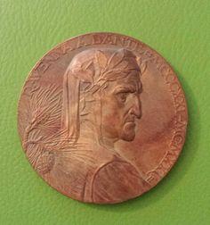 Medaglia bronzo per il 600° anniversario Dantesco - Aurelio Mistruzzi 1921 recto - Raccolta personale.