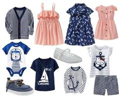 Spring Sibling Coordinating Looks|| #OldNavy #nautical #Style @Old Navy