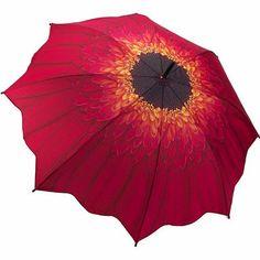 Galleria Red Daisy Stick Umbrella, $30 !!