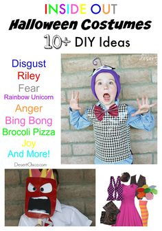 Do you want to be a character from the coolest animated film of I've brainstormed a HUGE list of Inside Out Costume ideas and am sharing them with you! Inside Out Halloween Costumes, Inside Out Costume, Disney Costumes For Kids, Couple Halloween Costumes For Adults, Halloween Crafts, Halloween Party, Couple Costumes, Halloween 2015, Disney Halloween
