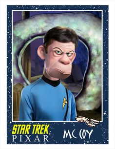 Dr. McCoy, Star Trek as done by Pixar. From Minion Factory.