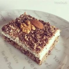Orechový koláč bez múky - Recept - My site Perfect Cheesecake Recipe, Cheesecake Recipes, Sweet Desserts, Sweet Recipes, Low Carb Recipes, Baking Recipes, Fitness Cake, Healthy Cake, Sweet Tooth