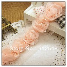 [Visit to Buy] free shipping,chiffon flower lace,flower lace,garment accessories floral decoration,DIY style,1033-2 #Advertisement