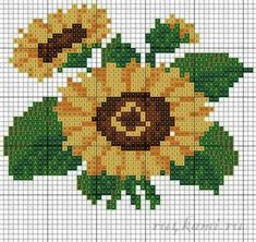 Embroidery sunflowers