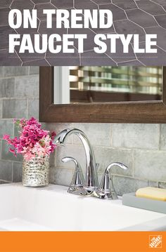 A quality bathroom faucet is more than just a practical matter. It also has big impact on the overall look of your bathroom upgrade. Here, we see the elegant, traditional Pasadena faucet from Pfister. Find this and other beautiful bathroom faucets at The Home Depot.