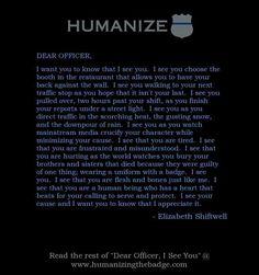www.humanizingthebadge.com #weseeyou