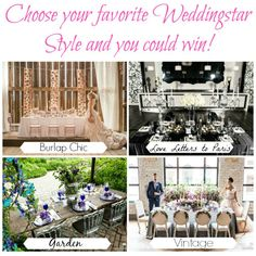 choose your favorite weddingstar style collage