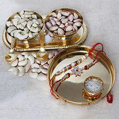 Send Golden bowl with Designer rakhi for this rakhi festival via rakhibazaar.com  #Designerrakhi  #Fancyrakhi
