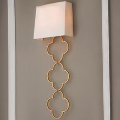 Ada Quatrefoil Chain Wall Sconce Look for Less
