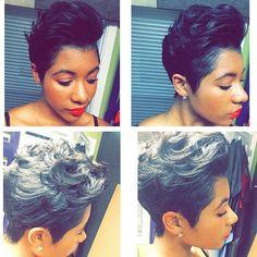 Obsessed with her pixie cut! Cut My Hair, Love Hair, Great Hair, Gorgeous Hair, Locks, Curly Hair Styles, Natural Hair Styles, Sassy Hair, My Hairstyle