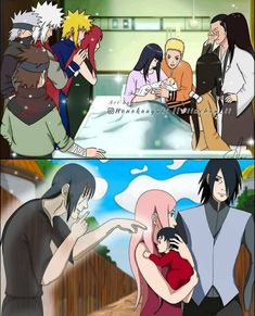 Naruto Uzumaki Art, Naruto Shippuden Characters, Naruto And Sasuke, Anime Naruto, Hinata, I Love You Drawings, Uzumaki Family, Familia Uzumaki, Anime Oc