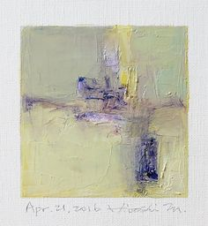 Apr. 21, 2016 - Original Abstract Oil Painting - 9x9 painting (9 x 9 cm - app. 4 x 4 inch) with 8 x 10 inch mat