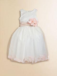 f12a5ba620a Us Angels - Toddler s   Little Girl s Satin   Tulle Rose Petal Dress