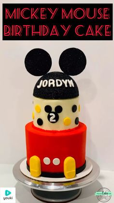 How to make an adorable Mickey Mouse birthday cake - Perfect for any kid's birthday party! ❤️🖤💛 Full video's linked; recipe's linked on the video page! Mickey Mouse Cake Topper, Mickey Mouse Clubhouse Birthday, Mickey Birthday, Mickey Party, 2nd Birthday, Birthday Cake Video, Toddler Birthday Cakes, Birthday Recipes, Bolo Mickey