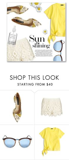"""""""Sunny Days Ahead"""" by fancy-chic ❤ liked on Polyvore featuring Steve Madden, Topshop, Le Specs, J.Crew and Herbivore"""
