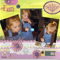 Robin O'Crowley is sharing Easter at their house today :) www.chatteringrobins.blogspot.com #scrapbooking #scrapbook #papercrafts #easter #dewdrops #coloring #eastereggs #robinsnest