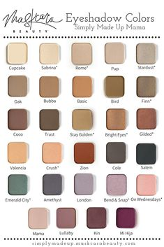 Eyeshadows for days! Create your own custom palette by picking 4 6 or 8 of you Maskcara Makeup, Maskcara Beauty, Makeup 101, Makeup Geek, Skin Makeup, Makeup Ideas, Beauty Make Up, Diy Beauty, Beauty Hacks