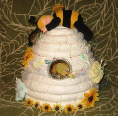 Beehive Diaper Cake Instructions Diaper Cake
