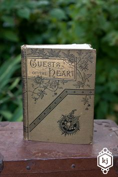 """This is just perfect if you have a """"vintage"""" themed wedding. I'd have purchased it if I could justify the $$ and had more than 3 weeks until the wedding. [wedding guest book by bindingbee]"""