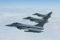 "Eurofughter Typhoon II Fighters of German Luftwaffe TaktLwG 31 ""Boelcke"" during the exercise Frisian Flag 2014"