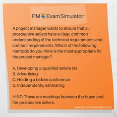 Free PMP® Exam Sample Question #PMP #PMPexam Pmp Exam, Project Management, Free