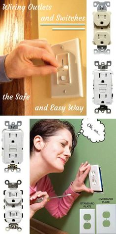 Wiring Outlets and Switches the Safe and Easy Way: Play it smart and stay safe when wiring outlets and switches. http://www.familyhandyman.com/electrical/wiring/wiring-switches-and-outlets