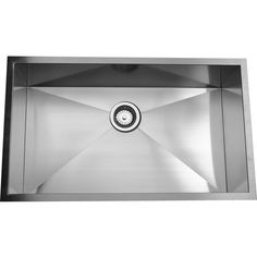 This Nantucket Sinks single bowl sink is crafted from 16-gauge, 304 stainless steel that features and undercoat to limit condensation as well as padding for sink noise reduction. The sink features zero-radius corners and an undermount installation.
