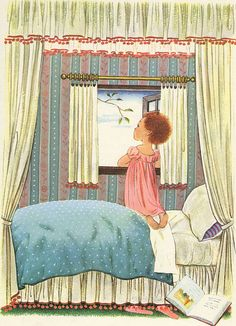 """""""A Child's Garden of Verses"""" c. 1951 Illustrated by Gyo Fujikawa"""