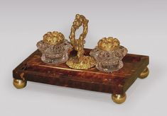 OnlineGalleries.com - A Regency period ormolu and tortoiseshell Pentray.