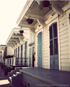 """TITLE: Blue Steps LOCATION: New Orleans This photograph is part of my """"Views of New Orleans"""" series. The photographs in the series feature the lovely and charming buildings in the French Quarter and a"""