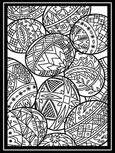 Welcome to Dover Publications - Artful Eggs from Around the World Stained Glass Coloring Book