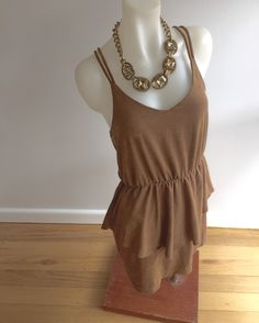 Size S: Faux Suede sleeveless mini  SOLD