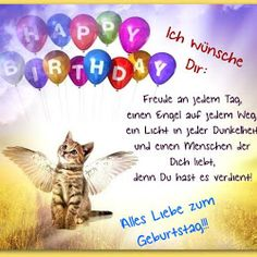 I wish you a happy day for your birthday - I wish you: joy every day, an angel on every path - Friend Birthday, It's Your Birthday, Birthday Cards, Happy Birthday, Birthday Banners, Inspirational Birthday Wishes, Birthday Cartoon, Happy B Day, Daily Health Tips