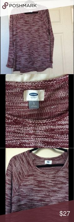 💕Cute Old Navy sweater This cute sweater size large by Old Navy is in great condition gently worn a couple times super cute with skinny's jeans leggings boots with a scarf my necklace so many different ways to wear the sweater. And from a non-smoking home. Old Navy Sweaters