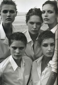 'The power of the white shirt'  Peter Lindbergh for Vogue Italia