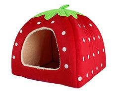Leegoal Soft Sponge Strawberry Small Cotton Soft Dog Cat Pet Bed House (Red, L) leegoal http://www.amazon.com/dp/B00CB8DY1G/ref=cm_sw_r_pi_dp_1uRIvb1TYGXE7
