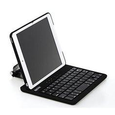 Sharkk Apple iPad mini 4 Bluetooth Wireless Keyboard Case Multi-Angle Folio Cover with 360 Degree Rotating Stand
