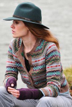 Shetland Fair Isle Cardigan - Ladies' Cardigans | Brora size 12