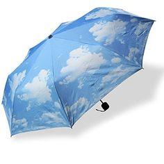 Landisun Modern Waterproof Rain Umbrella Parasol PVC Dome For Wedding Party Favor JN615 Blue Sky -- Read more  at the image link.