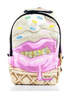 Sprayground Ice Cream Grillz Grill Gold Teeth Backpack Laptop Book Bag | eBay