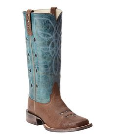 Look at this #zulilyfind! Cocoa Bean & Agua Dulce Ranch Luxe Leather Western Boot - Women #zulilyfinds