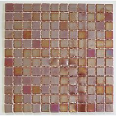 @Overstock.com - Viridian 'Pearl Nutmeg' 1-in. Recycled Glass Tiles (pack of 15) - These Viridian Pearl Nutmeg rosy brown glass mosaic tiles by Modwalls feature an environmentally-friendly recycled glass construction. Cover up to a 15 square foot indoor or outdoor, wet or dry area with these beautiful tiles.  http://www.overstock.com/Home-Garden/Viridian-Pearl-Nutmeg-1-in.-Recycled-Glass-Tiles-pack-of-15/6624757/product.html?CID=214117 $184.99