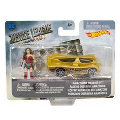 JL Movie Mighty Minis Mini-Figure w/ Hot Wheels Vehicle Case Mattel Justice League Action Figures