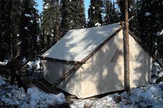 Alaska Tent and Tarp Wall tent Canoe Camping, Camping Glamping, Camping And Hiking, Camping Life, Backpacking, Yurt Tent, Tent Tarp, Cabin Tent, Outdoor Fun