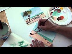 10-Minuten-Malerei: eine kleine Winterlandschaft - YouTube