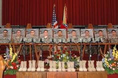 The traditional tribute to fallen soldiers, ...