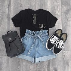 Cute Comfy Outfits, Cute Summer Outfits, Short Outfits, Stylish Outfits, Outfit Summer, Casual Summer, Stylish Girl, Summer Fashion Outfits, Cute Fashion