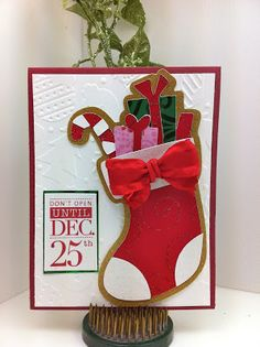 Cricut Christmas Stocking Winter Frolics QUICK Card