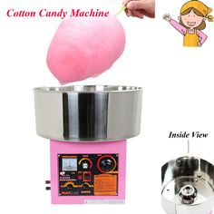 1pc Electric /Gas Commercial Cotton Candy Machine in Pink Color WY-771 #Affiliate