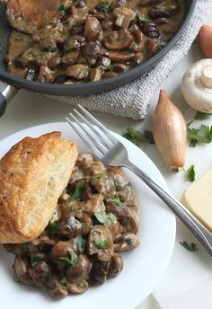 Mushroom and chestnut pie
